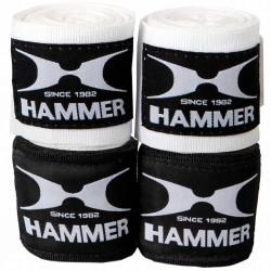 Hammer Boxing Bandages - per Paar Wit-Zwart 2,5 m - 3,5 m - 4,5 m