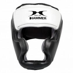 Hammer Boxing Hoofdbeschermer Sparring - leer - Zwart-Wit