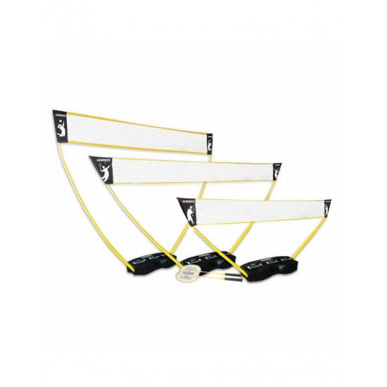 Hammer 3 in 1 set Vollybal-Badminton-Tennis + rackets en shuttles