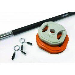 Bodypumpset - 10 kg oranje-grijs Toorx
