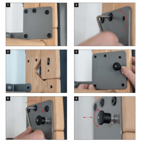 Side arm locking mechanism Wall bar NOhRD