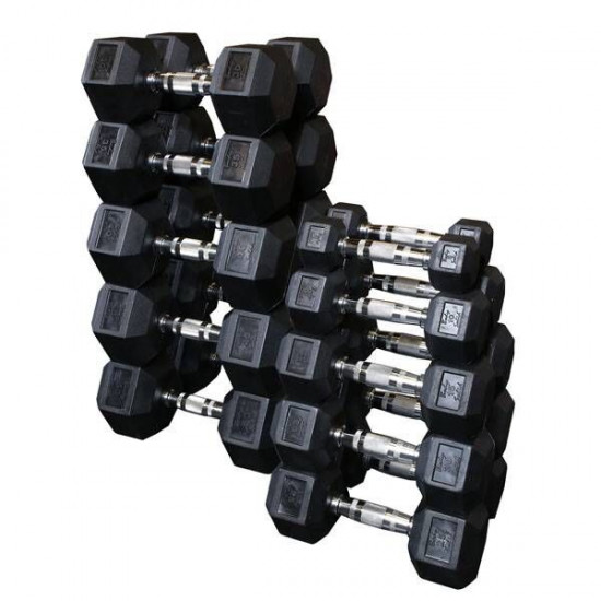 Body-Solid Hexagon Rubber Dumbbell - per Paar4 KG Paar