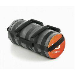 Toorx Powerbag 10 kg met 7 hendels - grijs - oranje