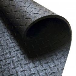 Body-Solid - Beschermmat/Vloermat - 183 cm x 122 cm x 1,27 cm  - Zwart - Rubber