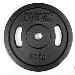 Hammer Halterschijven Gietijzer - met grepen vanaf 5 kgHammer 2x 20 kg Halterschijven Gietijzer met Grepen
