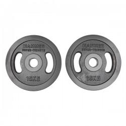 Hammer - Olympische Halterschijven - Gietijzer - per Paar2x 15 kg