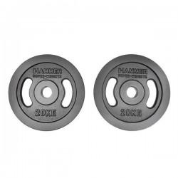 Hammer - Olympische Halterschijven - Gietijzer - per Paar2x 20 kg