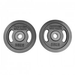 Hammer - Olympische Halterschijven - Gietijzer - per Paar2x 25 kg