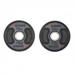 Hammer - PU - Olympische Halterschijven - per Paar2x 2.5 kg