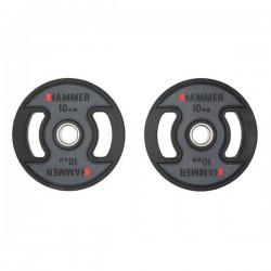 Hammer - PU - Olympische Halterschijven - per Paar2x 10 kg