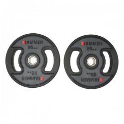 Hammer - PU - Olympische Halterschijven - per Paar2x 25 kg