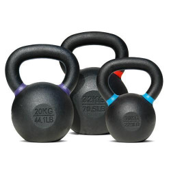Bodytrading - Powder Coated - Kettlebell - per stuk40 KG - wit