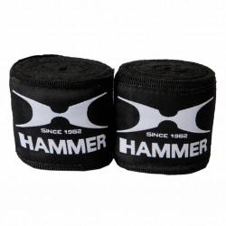 Hammer Boxing Bandages - per Paar4,5 meter - zwart