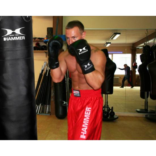 Hammer Boxing Bokshandschoenen PREMIUM FIGHT  - Leer - Zwart10 OZ