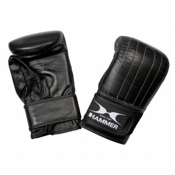 Hammer Boxing Zakhandschoenen Punch - Leer - Voorgevormd - ZwartMaat S/M