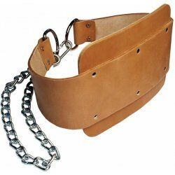 Body-Solid - Dipping Belt - Leer - Bruin