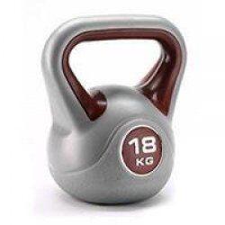 BodyTrading Kunststof kettlebells KBPL (per stuk)18 kg Grijs/Bruin