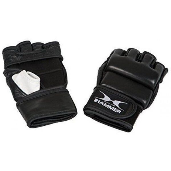 Hammer MMA, leer, zwart/wit, XL (open palm)
