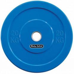 Body-Solid Olympische Bumper Plates20 kg - Blauw