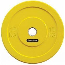 Body-Solid Olympische Bumper Plates15 kg - Geel