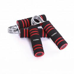 Toorx Foam Handknijpers - 2 stuks - Zwart/Rood