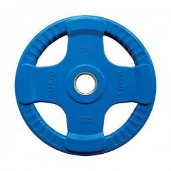 Body-Solid Gekleurde Rubberen Olympische Halterschijven 50 mm ORCK - per stuk20 kg - Blauw