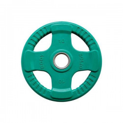 Body-Solid Gekleurde Rubberen Olympische Halterschijven 50 mm ORCK - per stuk10 kg - Groen