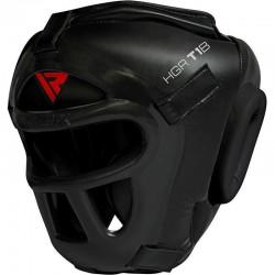 RDX Sports T1 Hoofdbeschermer Met Verwijderbare GezichtskooiExtra Large - Kleur: Zwart