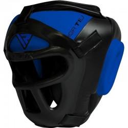 RDX Sports T1 Hoofdbeschermer Met Verwijderbare GezichtskooiExtra Large - Kleur: Blauw