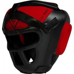 RDX Sports T1 Hoofdbeschermer Met Verwijderbare GezichtskooiExtra Large - Kleur: Rood
