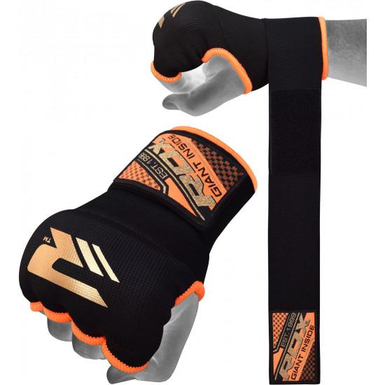 RDX Hosiery Inner Strap - Binnenhandschoenen met polsbandOranje - Maat: M