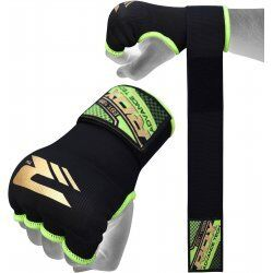 RDX Hosiery Inner Strap - Binnenhandschoenen met polsbandZwart/Groen - Maat: XL