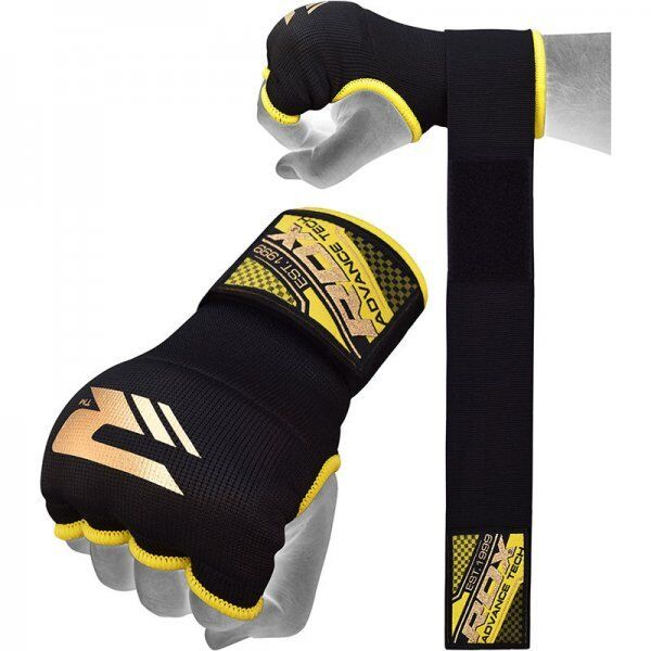 RDX Hosiery Inner Strap - Binnenhandschoenen met polsbandOranje - Maat: L