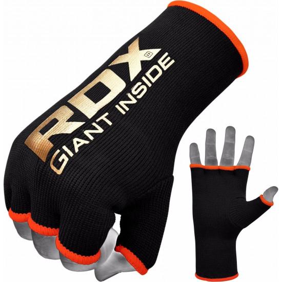 RDX Hosiery Inner - BinnenhandschoenenZwart/Oranje- Maat: XL