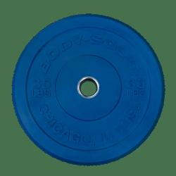 Body-Solid Chicago Extreme Gekleurde Olympische Bumper Plates OBPXCK20 kg Blauw