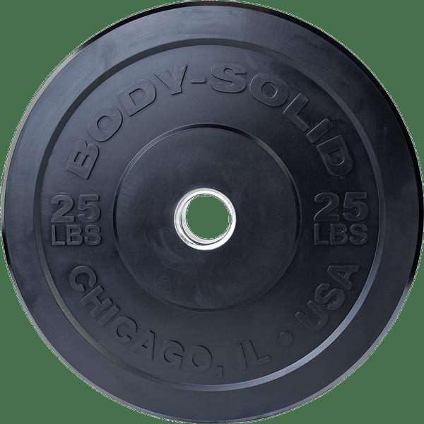 Body-Solid Chicago Extreme Zwarte Olympische Bumper Plates OBPXK15 kg