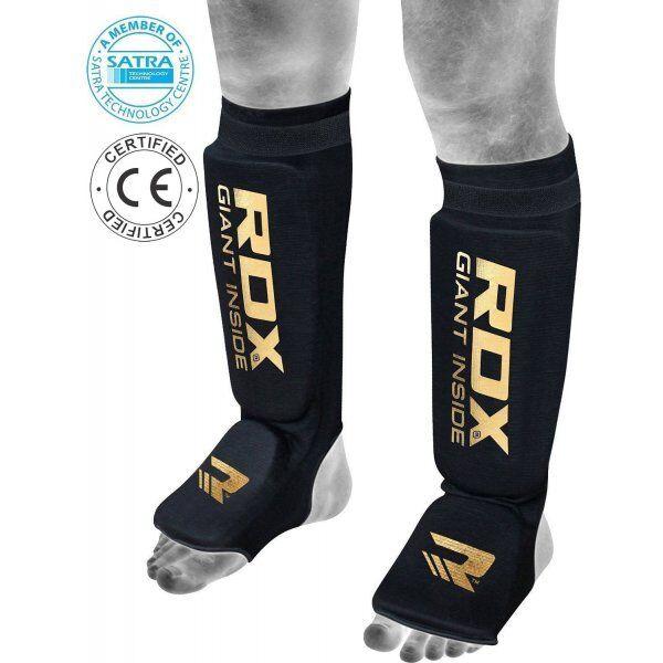 RDX Hosiery Shin Instep FoamZwart/Goud - Maat: XL
