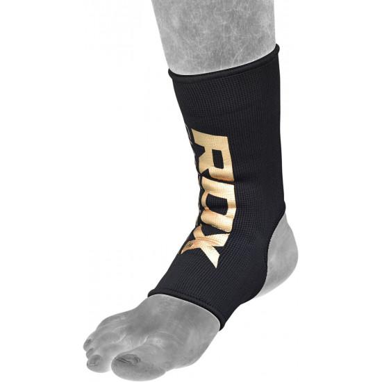 RDX Hosiery Ankle Sleeve - EnkelbeschermerZwart/goud - Maat: L