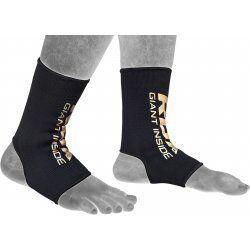 RDX Hosiery Ankle Sleeve - EnkelbeschermerZwart/goud - Maat: S
