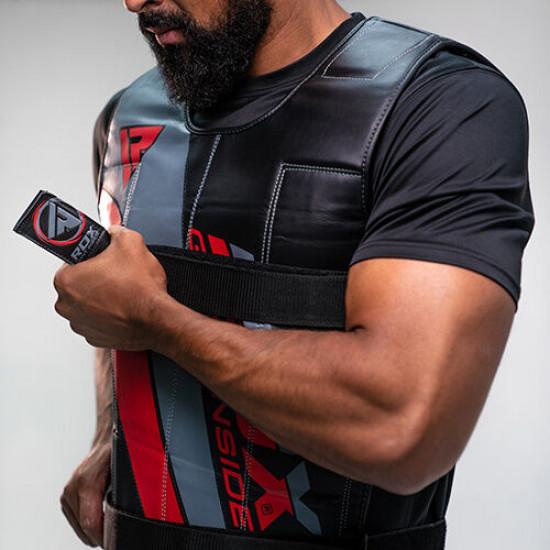 RDX R1 Gewichtsvest - Zwart / Rood - Verstelbaar van 10 tot 18 kg