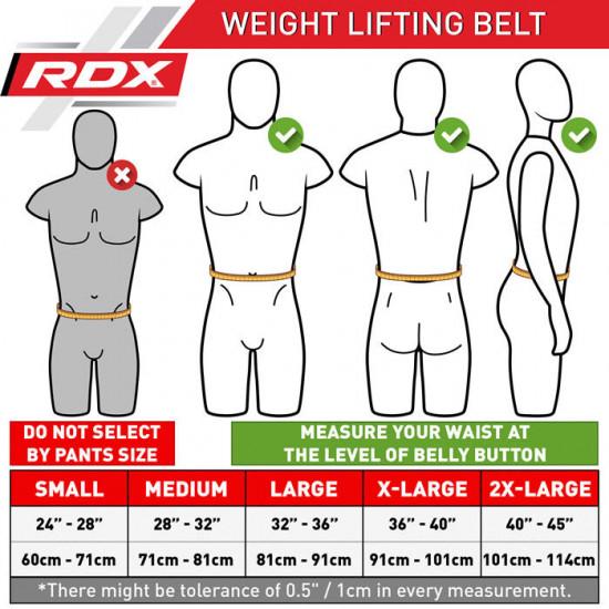 RDX Gym Lederen Gewichtenhef Riem Medium