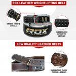 RDX Gym Lederen Gewichtenhef Riem Small