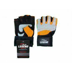 Fitness Handschoenen Legend Grip Oranje/Grijs - Maat: L