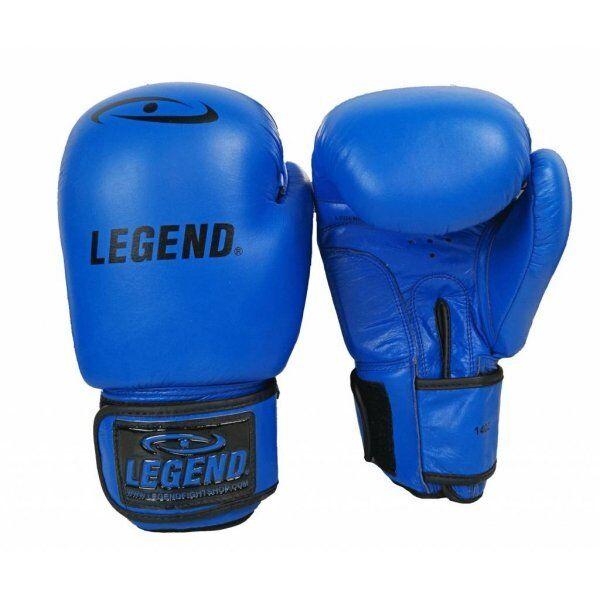 Leren Bokshandschoenen LegendPadding Blauw - Maat: 10oz
