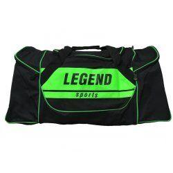 Sporttas Legend met 3 rits vakken zwart neon groen