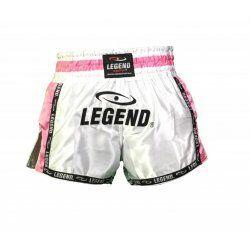 Kickboks broekje dames roze wit Legend Trendy  - Maat: XXS