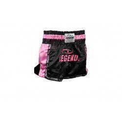 Kickboks broekje dames roze zwart Legend Trendy  - Maat: XXS