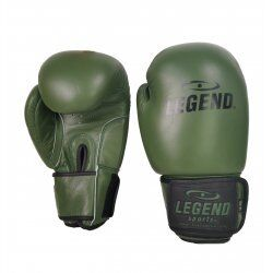 Leren Bokshandschoenen LegendPadding Army  - Maat: 12oz