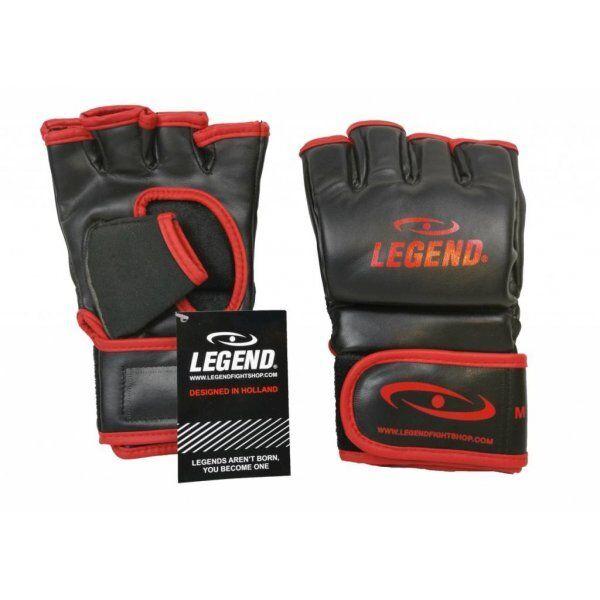 Bokszak MMA handschoenen Legend Flow zwart rood - Maat: L