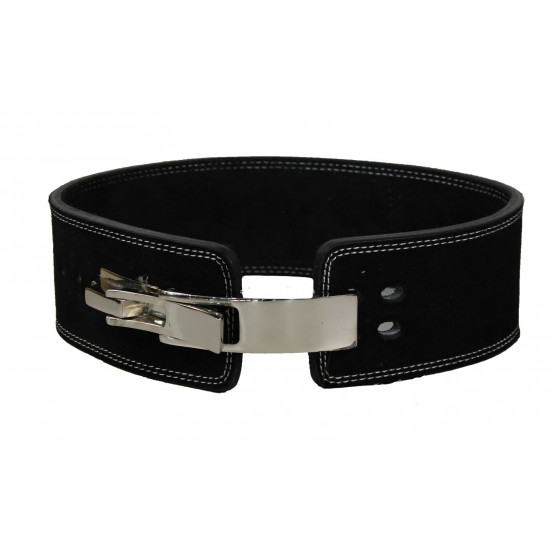 Power Lifting Fitness Riem lever zwart suede leer - Maat: XS